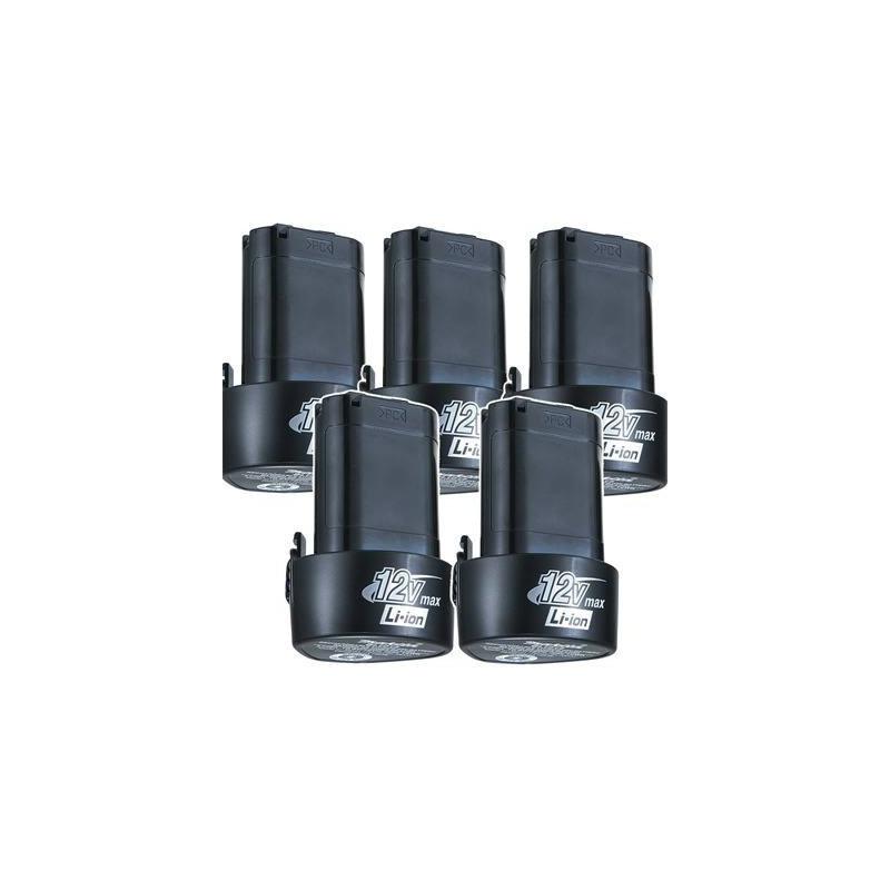 Kit com 5 Baterias 12V Íon de Lítio BL1014 - 196338-0 - Makita