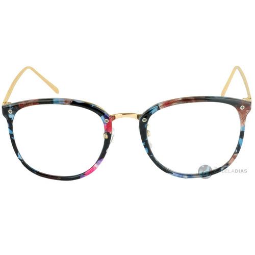 ... comprar Armação Óculos De Grau Feminino Retrô Grande Barato Garantia ... fe44f2c63f
