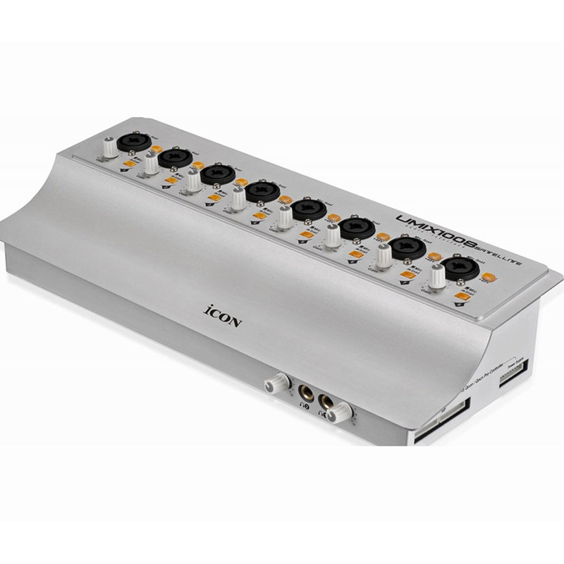 INTERFACE DE AUDIO ICON PLACA DE SOM USB 8 ENT UMIX1008 SATE