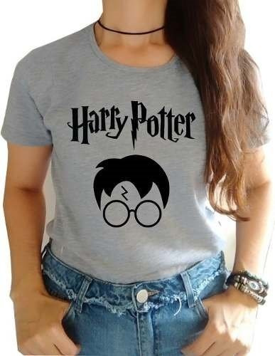 Camiseta Feminina T- Shirts Harry Potter 100% Algodão Original