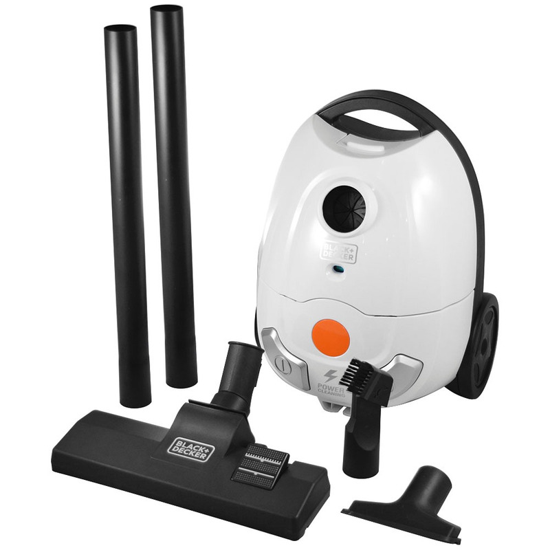 Aspirador de Pó Black+Decker 1200W Branco - A2B