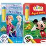 2 Livros De Colorir Com Água Aquabook Licenciados
