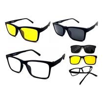 9bb11ac40 Armação Masculino Óculos Para Grau Sol Com 2 Clip On Barato