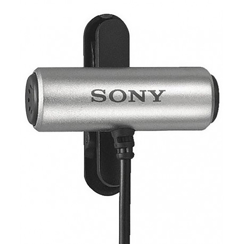 Microfone de Lapela para Gravadores de Áudio Sony ECM-CS3