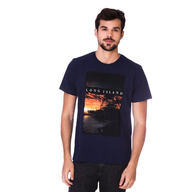 Camiseta Long Island Pier Marinho