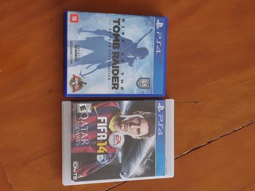 2 Jogos Rise Of The Tomb Raider + Fifa 14 Ps4 Mídia Física Original