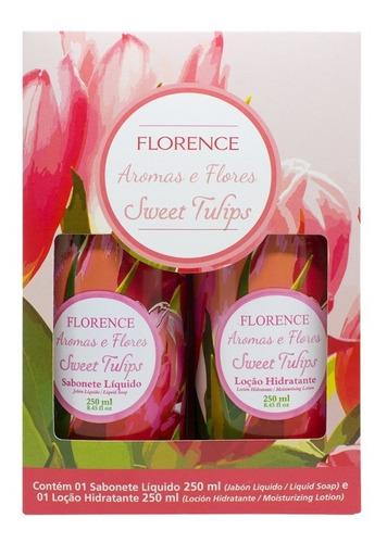 Estojo Aromas E Flores - Sweet Tulips ( Sab. Líq. + Loção) Original
