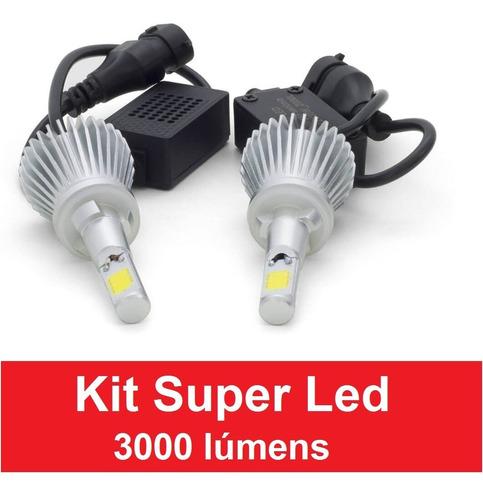 Kit Xenon Super Led Carro H1 H3 H4 H7 H8 H11 Hb3 Hb4 6000k Original