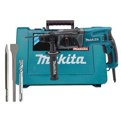 Kit Martelete Comb 24mm c/Enc SDS PLUS 800W HR2470 110 Volts + Ponteiro SDS 250mm D-08713 + Talhadeira SDS 250mm D-08729 + Broca SDS 8x160mm D-00131 +