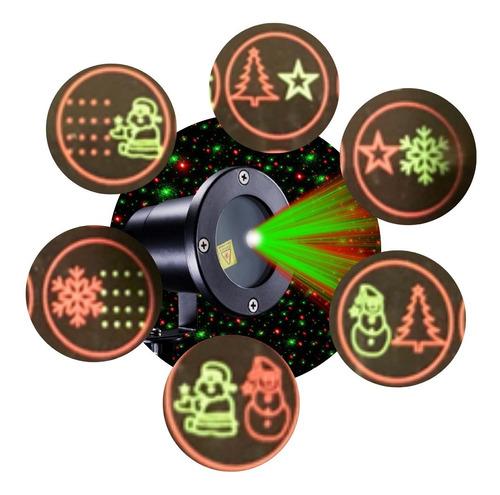 Espeto Projetor Natal Laser Festas Com Desenhos Prova D Água Original