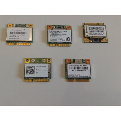 Lote 13 Placas Mini Pci Wireless Notebook Vaio Dell Etc 100% em Salvador