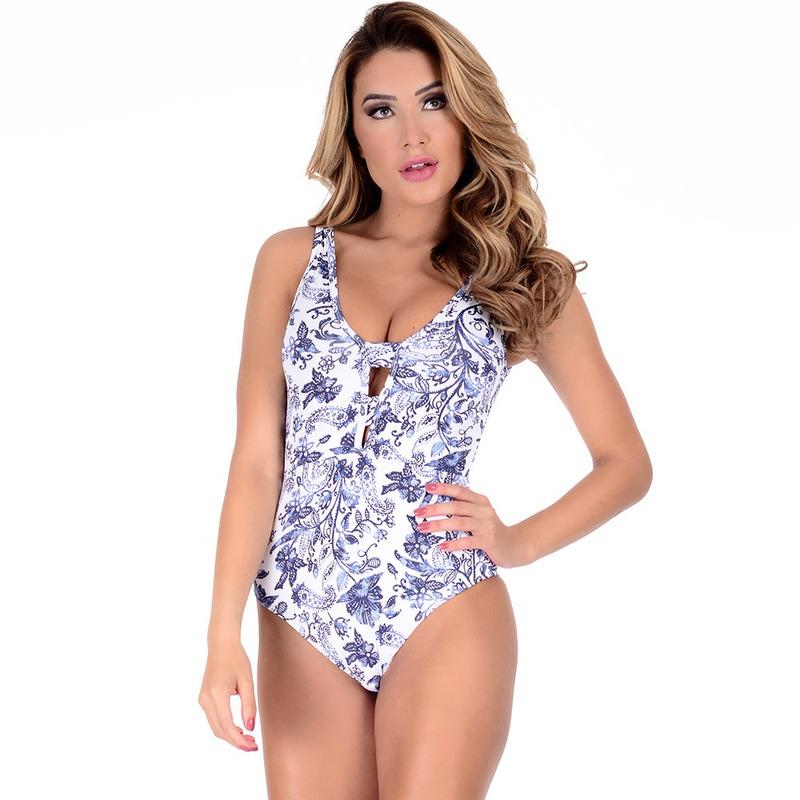 Maiô Summer Soul Loving Arabesco Azul