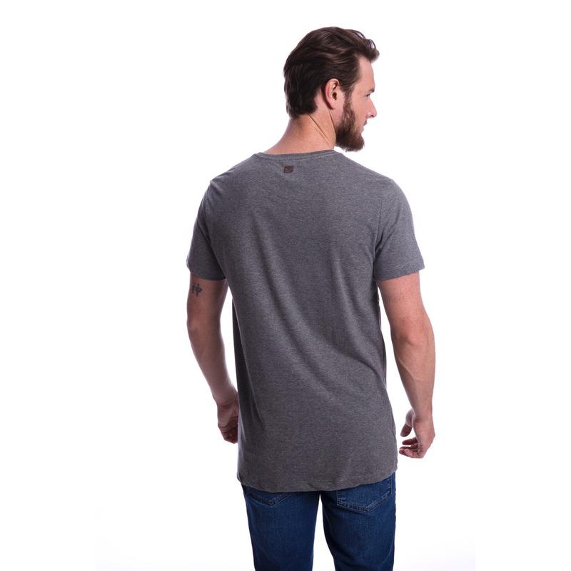 Camiseta Long Island Plus Size BK Cinza