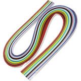 120 Tiras de Papel Colorido para Quilling, Filigrama.