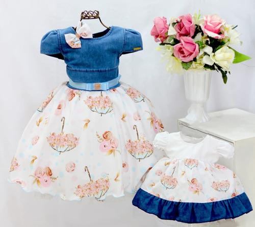 Vestido Para Festa Infantil Daminha Florista Princesa Original