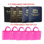 Bíblia Infantil Kit 10 Unidades 5 Menino 5 Menina