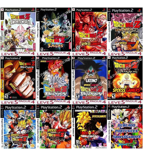 2 Jogos Dragon Ball Ps2 Mods Patch Envie Os Nomes Original
