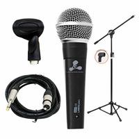 Microfone Lamericano Gold-58 Arcano + Pedestal Convencional