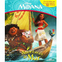Livro Infantil Moana Aventuras No Mar Com 12 Miniaturas