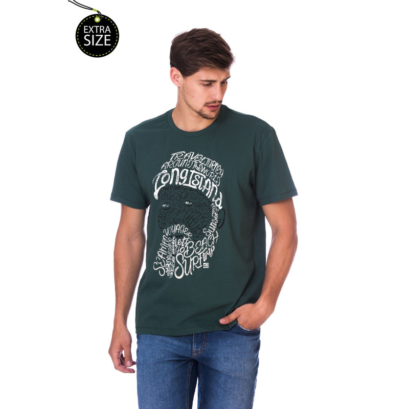 Camiseta Long Island Plus Size Seaman Verde
