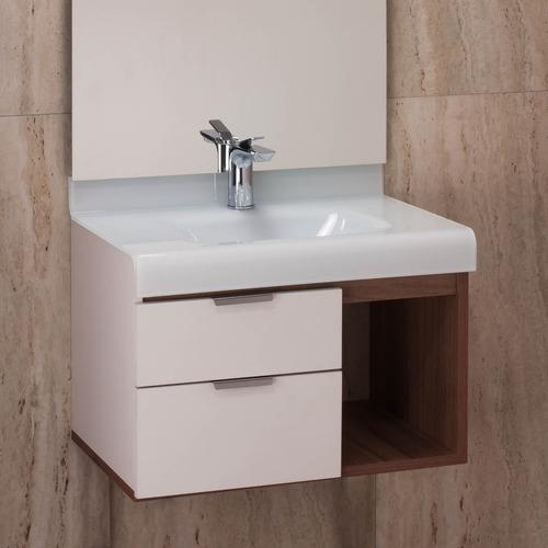 Gabinete Para Banheiro Bergan C Tampo De Vidro Sem Espelho