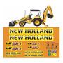 Kit Adesivo Retroescavadeira New Holland Lb90 Etiquetas Mk