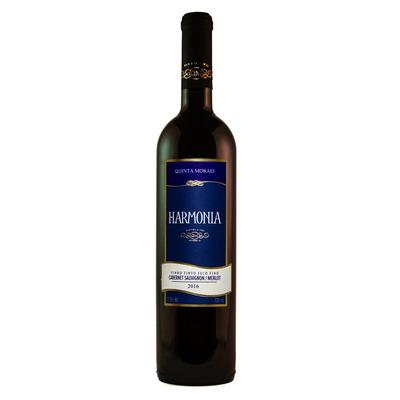Vinho Fino Tinto Cabernet Sauvignon/Merlot Harmonia 720ml - Quinta Moraes