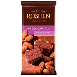 Chocolate Whole Almonds Roshen 90 g -...