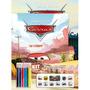 Kit Gigante Carros 2 Livros 6 Lapis De Cor Adesivos
