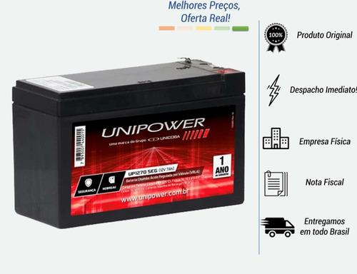 Bateria 12v 7ah Selada Central Alarme Nobreak Cerca Elétrica Original