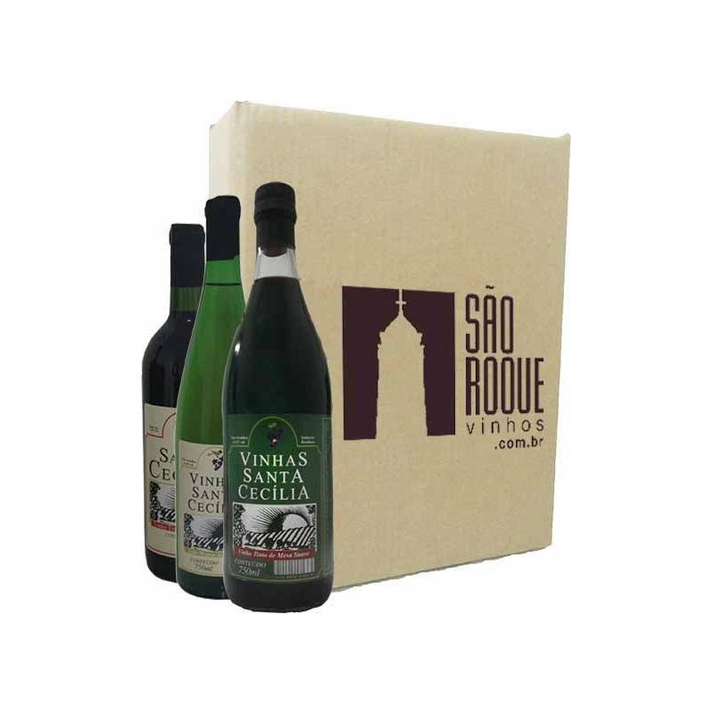 Kit Vinho Izabel/Bordô Suave + Seco + Branco Niagara - Sta Cecília