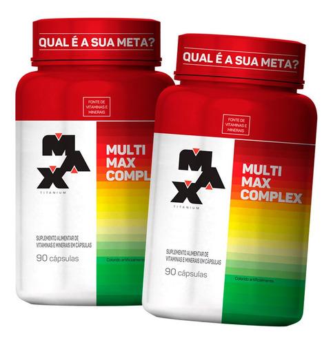 2 X Multivitaminico Multimax Complex 90 Cáps - Max Titanium Original