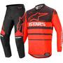 Calça/camisa kit Alpinestars Racer Supermatic 2020 Preto/ver
