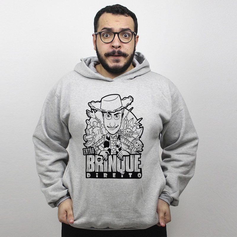 MOLETOM CINZA - BRINQUE DIREITO