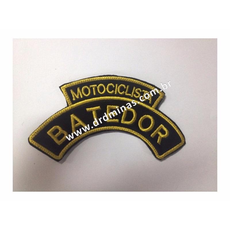 Distintivo Bordado Motociclista Batedor - I - U