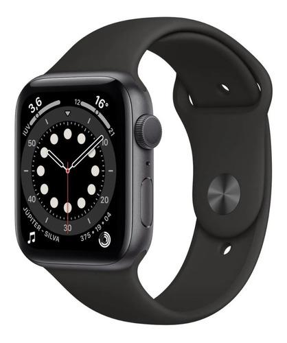 Apple Watch 6 44mm Space Gray Aluminum Black 1 Ano Garantia Original