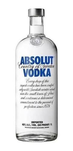 Vodka  Absolut Tradicional  1l Mega Oferta Original