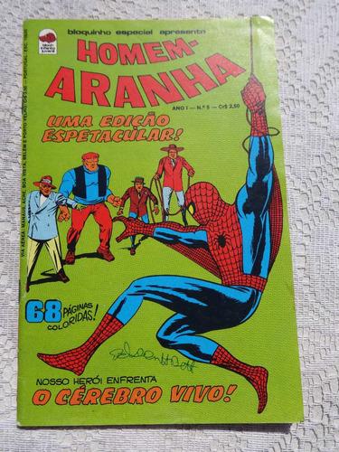 Homem-aranha Nº 5 Os Executores - O Cérebro Vivo - Ed. Bloch Original