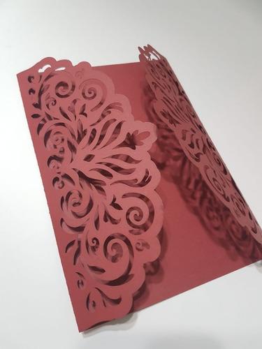 155 Envelopes Para Convites Renda Capa Casamento Aniversario Original