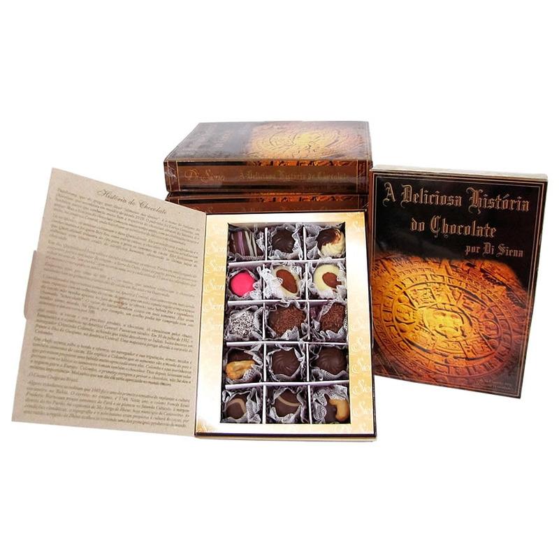 Caixa Formato Livro com Bombons Sortidos 200g