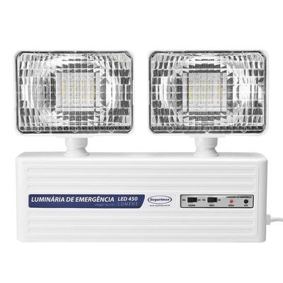 A Luz de Emergência Led 2 Faróis da Segurimax é um excelente equipamento para iluminação de emergência(aclaramento), muito utilizada em prédios, condomínios, escritórios, estabelecimentos comerciais, em hotéis, residências, pequenos galpões.