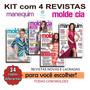 Kit Com 4 Revistas Moda Molde Cia Roupa Costura Frete R$ 15