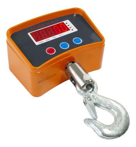 Balança Digital Gancho 1000kg 1t Suspensa C/ Bateria Interna Original