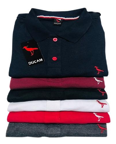 Kit 5 Camisa Polo,  Algodão Com  Original