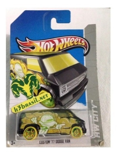 Bx126 Hot Wheels 2012 Custom 77 Dodge Van Furgao Grafite H3 Original