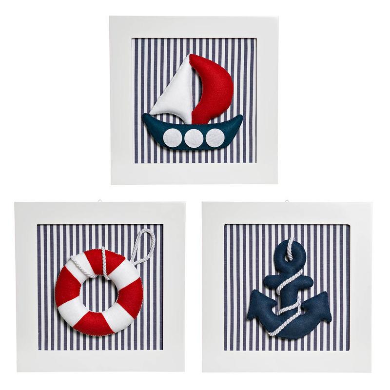 Trio De Quadros Marinheiro