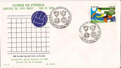 Fdc Taça De Ouro Coritiba Futebol Clube 1988 Com Cbc 1º Dia Original