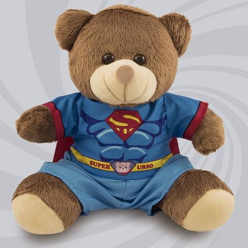 Ursinho Super Herói Fantasia Super Homem 30cm Original