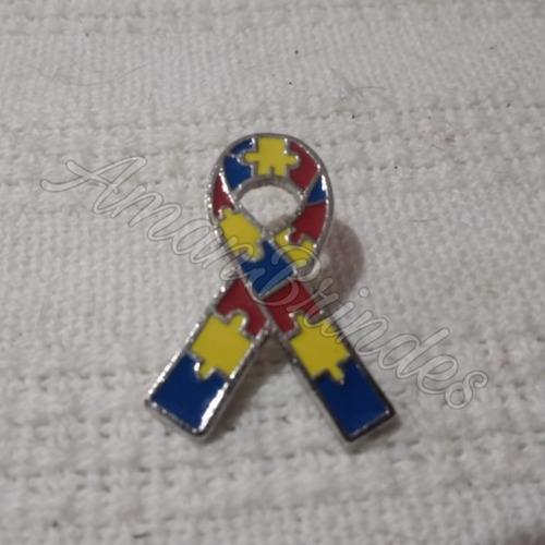 Pin/ Broche Laço Simbolo Autismo Kit 5 Pçs  (pronta Entrega)
