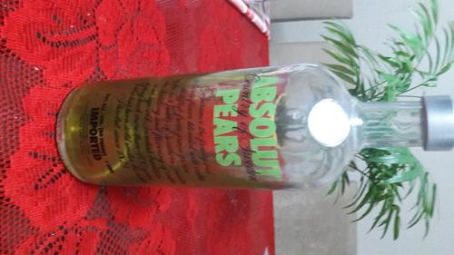 Garrafa Vazia De Vodka Absolut Pears De 1 Litro Original